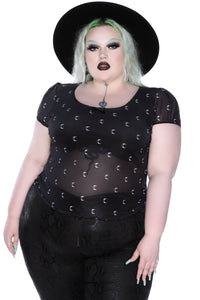 Killstar Madison Cap-Sleeve Top Plus Size - Kate's Clothing