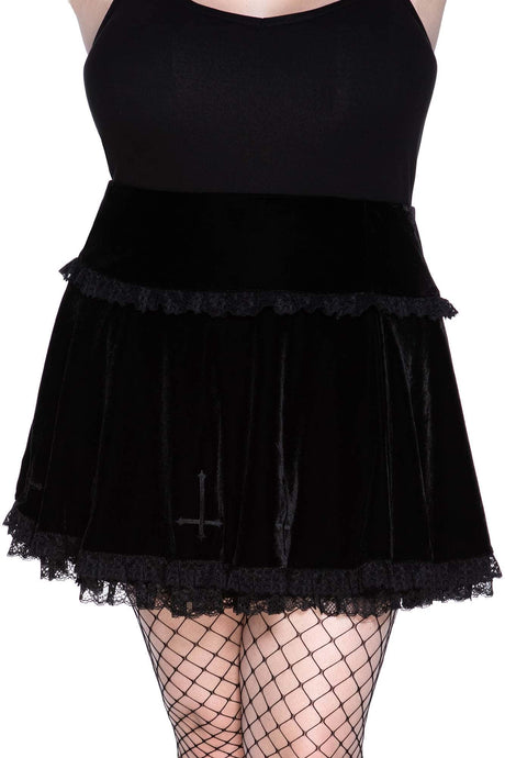 Killstar Mitzy Mini Skirt Plus Size - Kate's Clothing