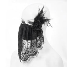 Load image into Gallery viewer, Devil Fashion Lace Veil Face Mask With Filter - Kate's Clothing