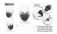 Load image into Gallery viewer, Devil Fashion Tie Dye Lace Up Face Mask With Filter - Kate's Clothing