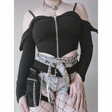 Load image into Gallery viewer, Necessary Evil Minyas Crop Top - Kate's Clothing