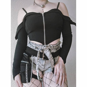 Necessary Evil Minyas Crop Top - Kate's Clothing