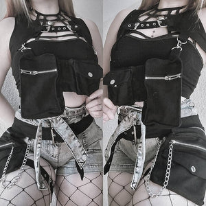 Necessary Evil Gothic Sin Pocket Belt - Kate's Clothing