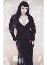 Load image into Gallery viewer, Necessary Evil Plunge Velvet Diana Dress