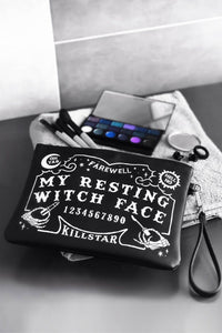 Killstar Witch Face Makeup Bag - Kate's Clothing