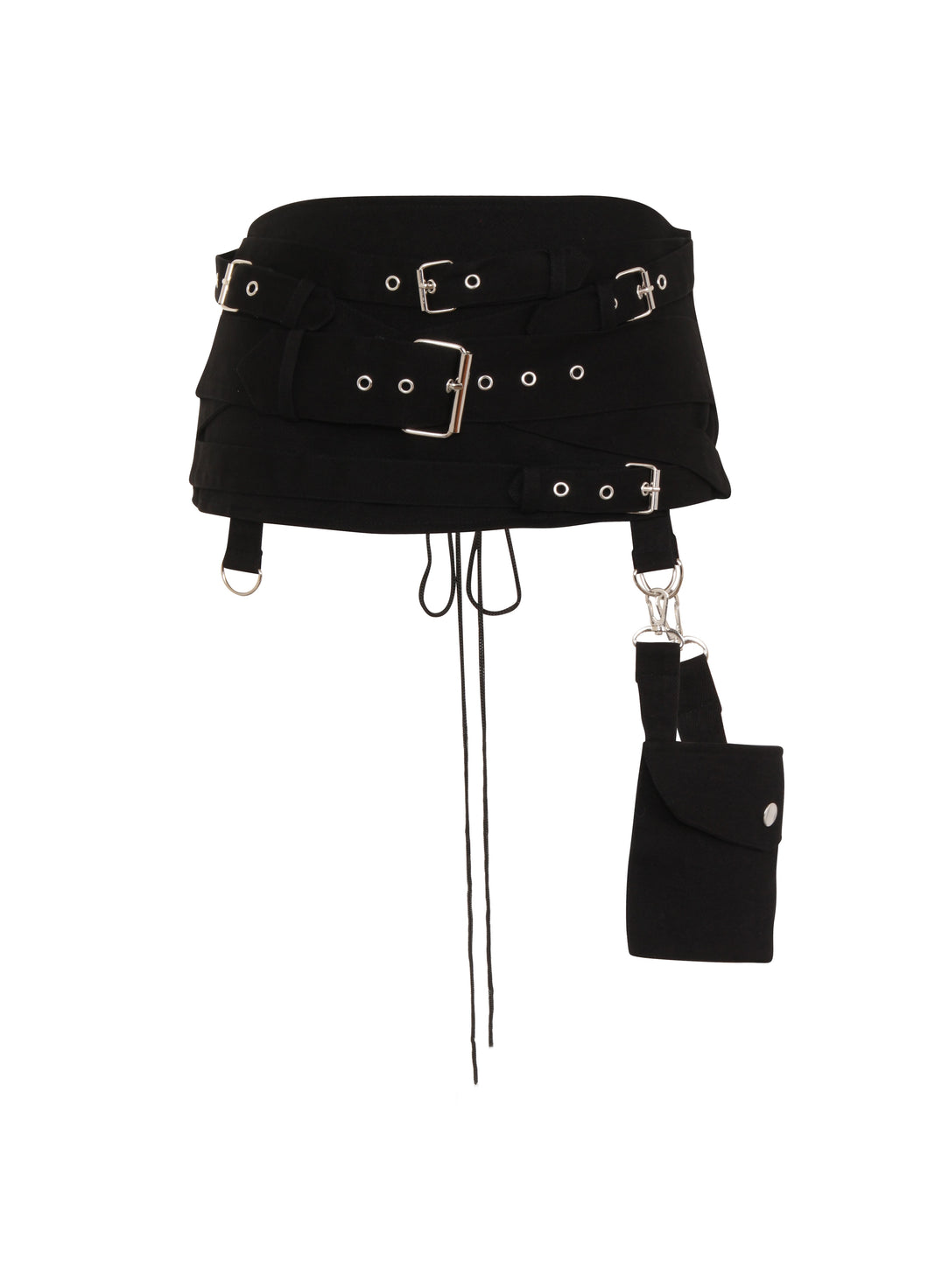 Necessary Evil Gothic Hel Pocket Multi Belt Cincher - Kate's Clothing