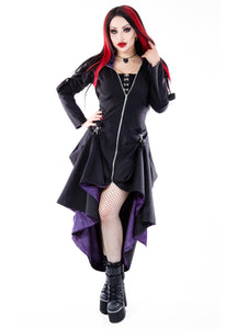 Necessary Evil Purple Lined Selene Coat - Kate's Clothing