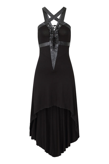 Necessary Evil Orizaba Plunge Pentagram Dress - Kate's Clothing