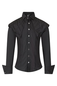 Necessary Evil Mens Erebus Shirt with Bat Wing Feature - Kate's Clothing
