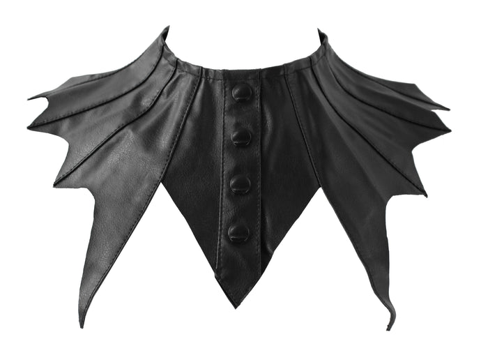 Necessary Evil Zaria Bat Wing Collar - Kate's Clothing