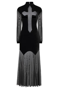 Necessary Evil Athena Cross Maxi Dress - Kate's Clothing