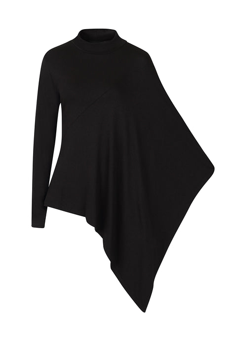 Necessary Evil Persephone Asymmetric Drape Top - Kate's Clothing