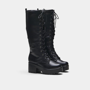 Koi Sektor Chunky High Boots - Kate's Clothing
