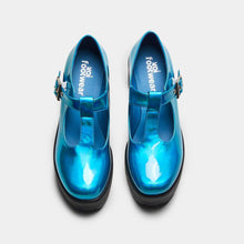 Load image into Gallery viewer, Koi Sai Blue Metallic Mary Janes - Kate's Clothing
