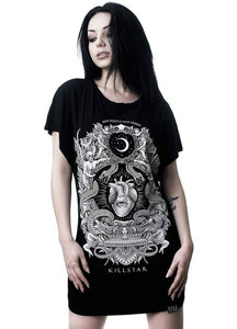Killstar Never Surrender Batwing Tunic - Kate's Clothing
