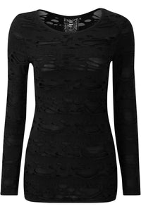 Killstar Night Shadow Long Sleeve Top - Kate's Clothing