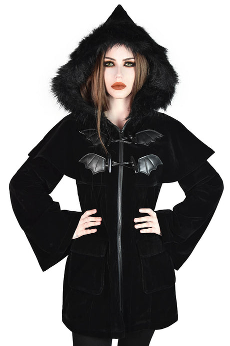 Killstar Nightfever Duffle Coat - Kate's Clothing