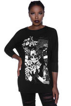 Load image into Gallery viewer, Killstar No Fairytale Raglan Tunic - Kate's Clothing