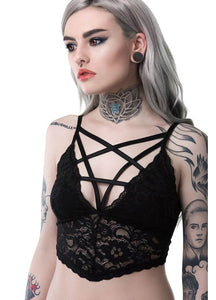 Killstar Noctra Lace Bralet - Kate's Clothing