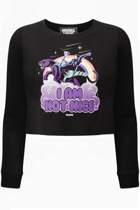 Killstar Skeletor Not Nice Thermal Plus Size Top - Kate's Clothing