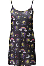 Load image into Gallery viewer, Killstar Skeletor Not Cute Mesh Dress - Kate's Clothing