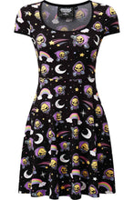 Load image into Gallery viewer, Killstar Skeletor Not Cute Skater Dress - Kate's Clothing