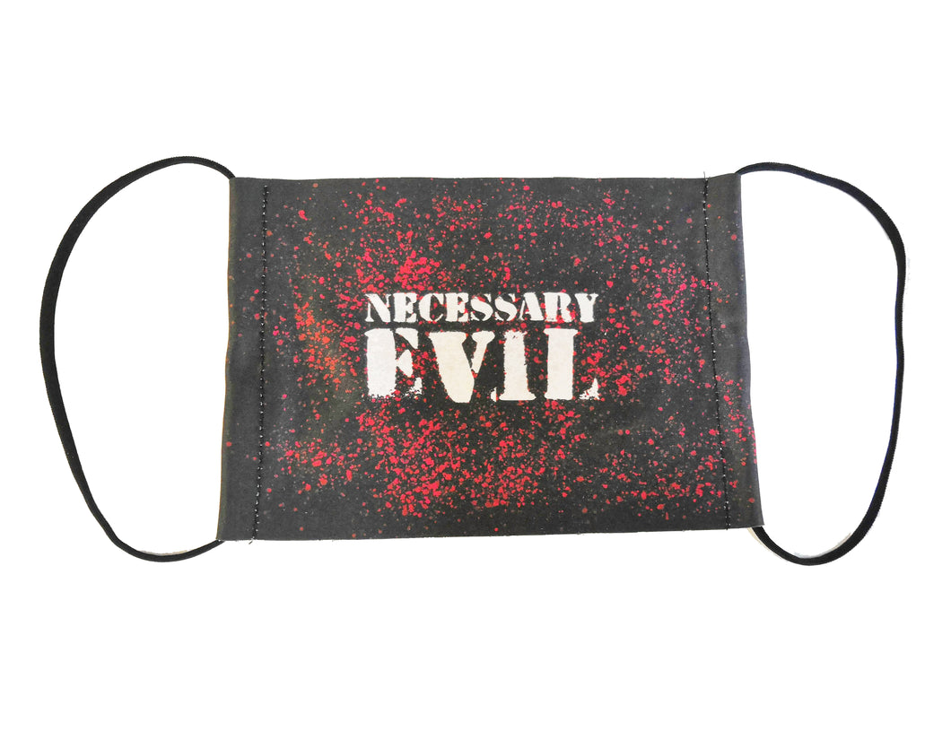 Necessary Evil Face Covering - Free with any order over £39.99 - can't be combined with other discounts - Kate's Clothing