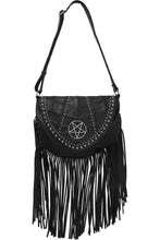 Load image into Gallery viewer, Killstar Metal Lyfe Fringe Bag - Kate's Clothing