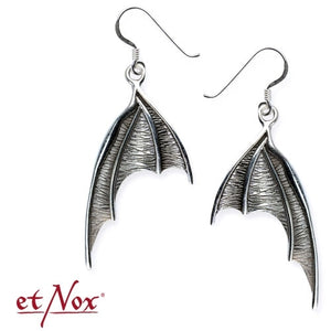 Et Nox Silver Bat Wing Earrings - Kate's Clothing