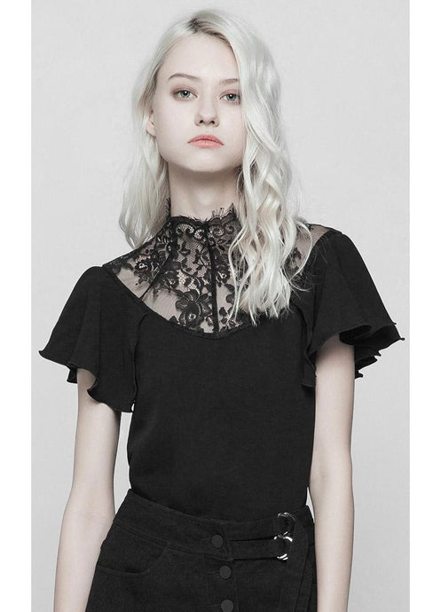 Punk Rave Black Blossom Top