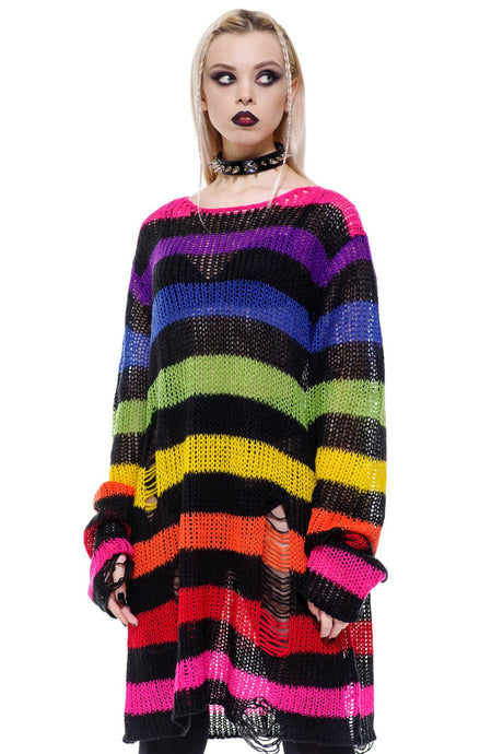 Killstar Over The Rainbow Knit Sweater - Kate's Clothing
