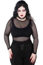 Load image into Gallery viewer, Killstar Overkill Fishnet Top - Kate's Clothing