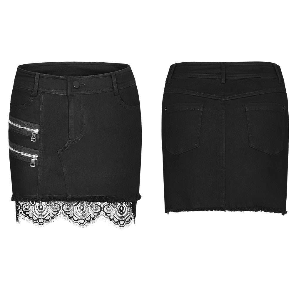 Punk Rave Constance Denim Skirt