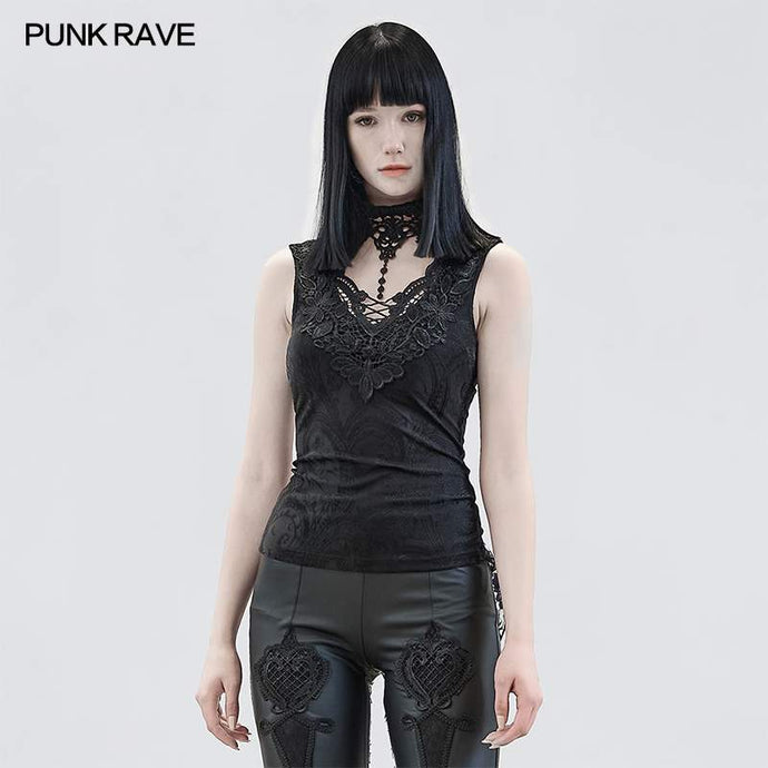 Punk Rave Aneria Top - Black - Kate's Clothing