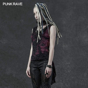 Punk Rave Aneria Top - Purple - Kate's Clothing