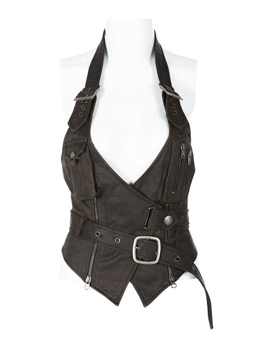 Punk Rave Plus Size Brielle Steampunk Waistcoat - Kate's Clothing