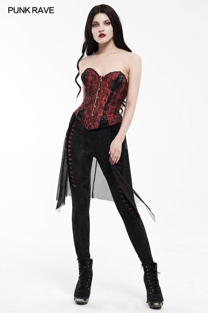 Punk Rave Plus Size Enfys Corset Top - Kate's Clothing