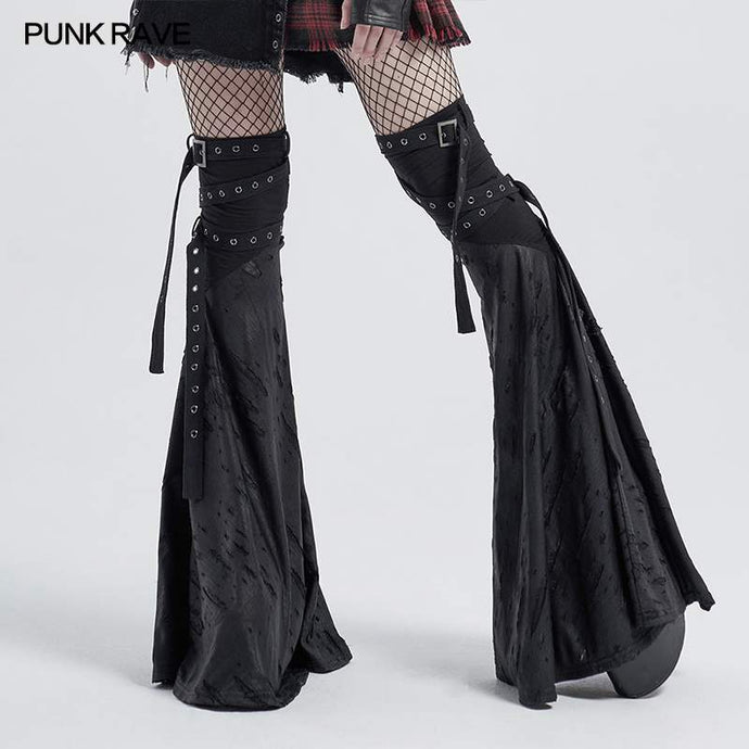 Punk Rave Flared Leg Warmers - Kate's Clothing