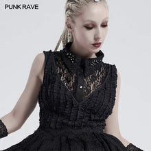Load image into Gallery viewer, Punk Rave Gothic Lace Collar - Black - Kate's Clothing