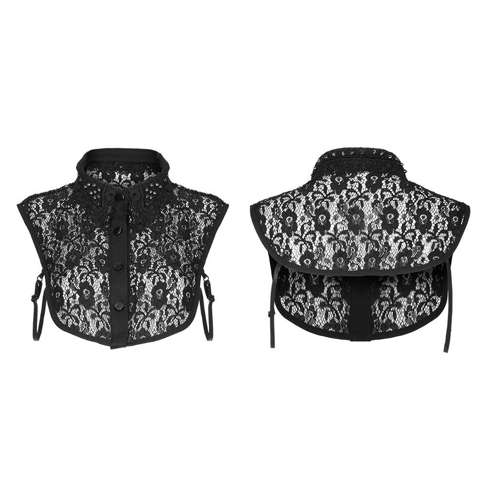 Punk Rave Gothic Lace Collar - Black - Kate's Clothing