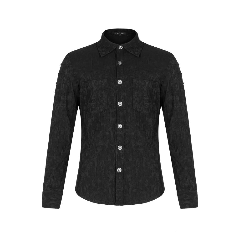 Punk Rave Mens Jacquard Shirt - Kate's Clothing