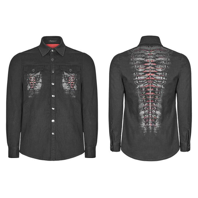 Punk Rave Mens Keel Denim Shirt - Kate's Clothing