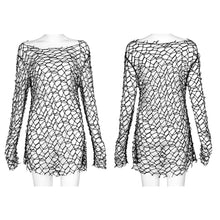 Load image into Gallery viewer, Punk Rave Lattice Top - Black - Kate's Clothing