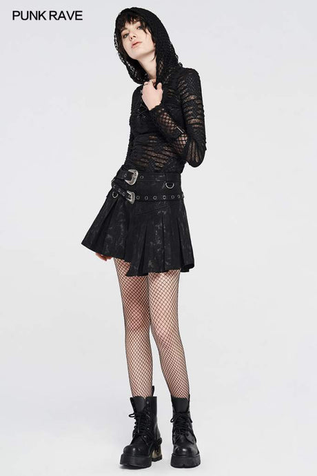 Punk Rave Lulani Pleated Wrap Skirt - Kate's Clothing