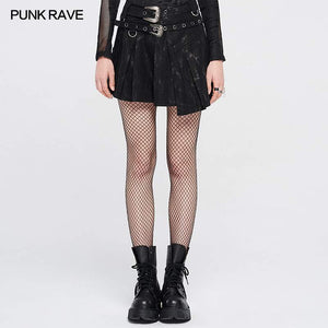 Punk Rave Plus Size Lulani Pleated Wrap Skirt - Kate's Clothing
