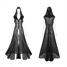 Load image into Gallery viewer, Punk Rave Plus Size Sabrina Chiffon Hooded Waistcoat Dress - Kate's Clothing