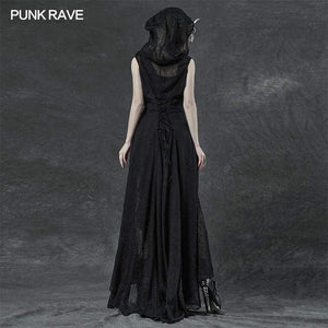 Punk Rave Plus Size Sabrina Chiffon Hooded Waistcoat Dress - Kate's Clothing