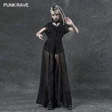 Load image into Gallery viewer, Punk Rave Sabrina Chiffon Hooded Waistcoat Dress - Kate's Clothing