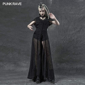 Punk Rave Sabrina Chiffon Hooded Waistcoat Dress - Kate's Clothing