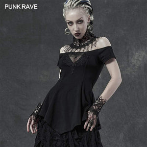 Punk Rave Night Vine Collar And Cuffs Set - Kate's Clothing